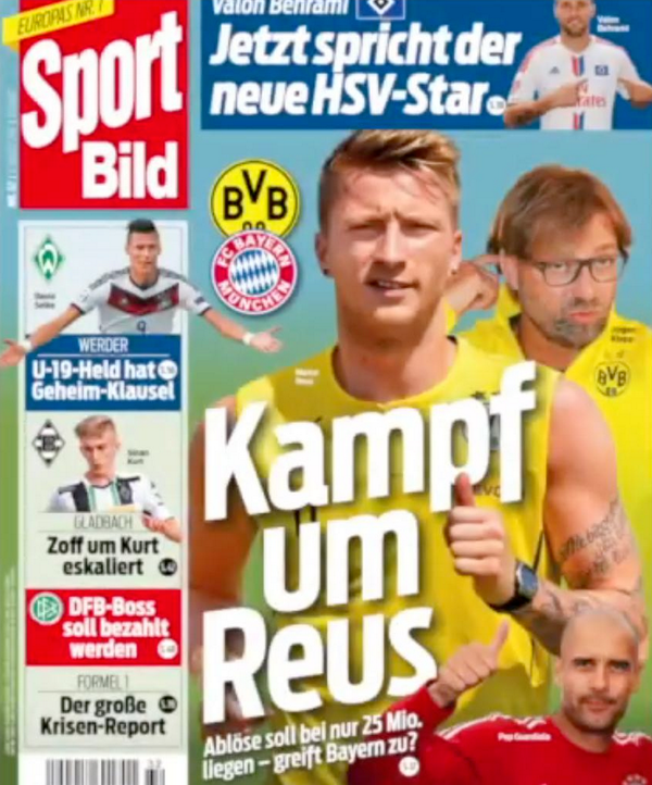 Bayern & Man United target Marco Reus only has a €25m buyout clause in his BVB contract [Bild]