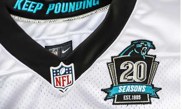 5393e391 RT @Panthers: The #Panthers jerseys will feature a commemorative 20th  season patch this year.pic.twitter.com/zkmD6SFru5
