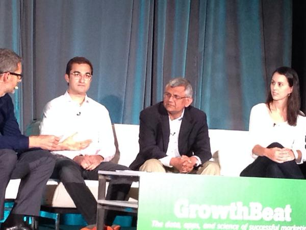 Radius CEO @darian314 speaking with @erincolbert @zenpayroll & Sanjeev Patny @AmericanExpress at #GrowthBeat! http://t.co/VfCGKDBiwS