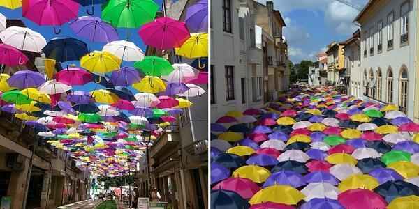 Hundreds of Umbrellas Float Above The Streets in Portugal http://t.co/En8eM1FPQ0 via @ShiCooks @Timothy_Hughes @MySOdotCom @maggietranquila