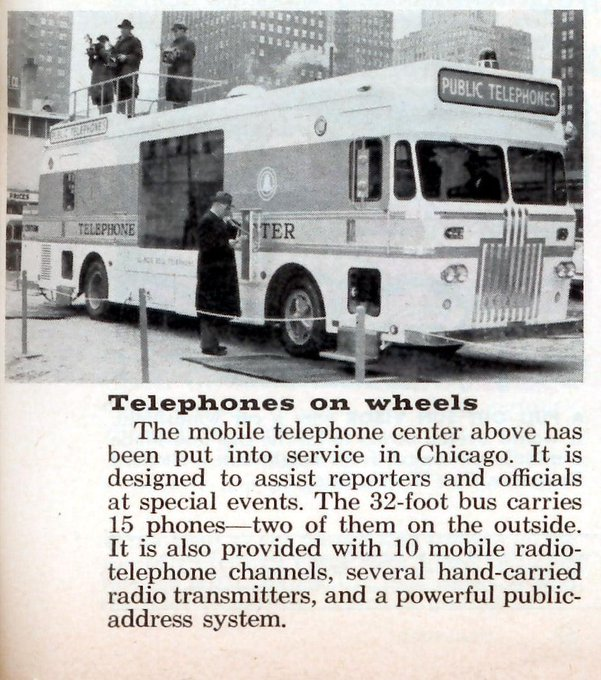 Mobile phones slightly bigger in 1960