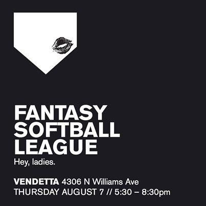 #Fantasy #Softball League #Lesbian #happyhour Round 2! Thursday at 5:30pm @Vendetta in #Portland #Oregon http://t.co/KZSZdRTT99