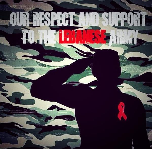 We extend our respect, support and love to the #LebaneseArmy. #OneLebanon http://t.co/ozXc7UVV8Q