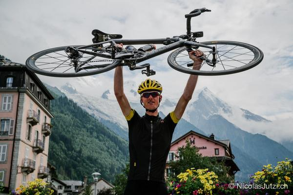 He has done it @cottydale has reached Mt Blanc 1012kms non stop! 53hrs38mins Congratulations Mike! #Road2MontBlanc http://t.co/kmwTqFICK2