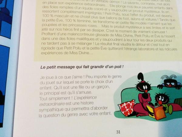 """...pour le savoir il faut acquérir le dernier Petit Poilu """"L'expérience extraordinaire"""" (-; #ÉgalitéFG http://t.co/J6x5Wnw0uy"""