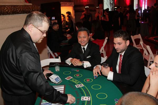Black Jack casino table rentals, poker, roulette, dealer and Vegas style show girls staffing, party planner in DC