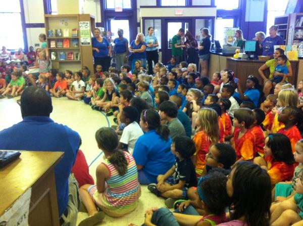 There's an attentive audience for this morning's show at the library. #Pottstown http://t.co/7wPqGu4pr6