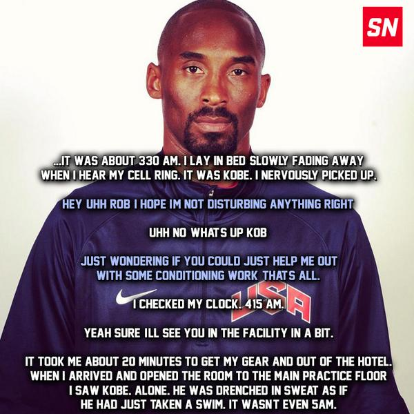 This Team USA trainer's account of Kobe's work ethic is INCREDIBLE. http://t.co/opmDCSax9b