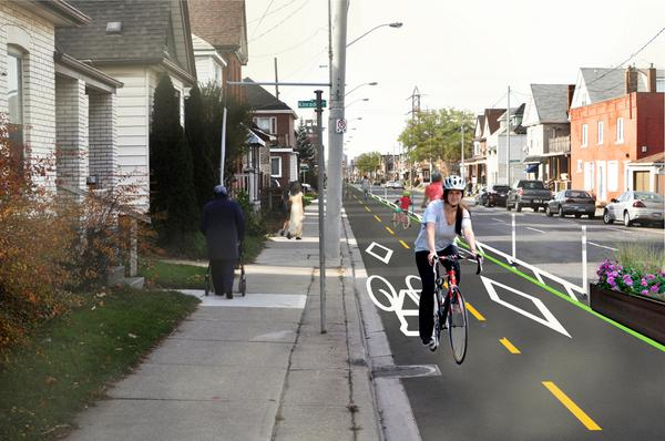 Conceptual design for Cannon Street cycle track (Image Credit: City of Hamilton)