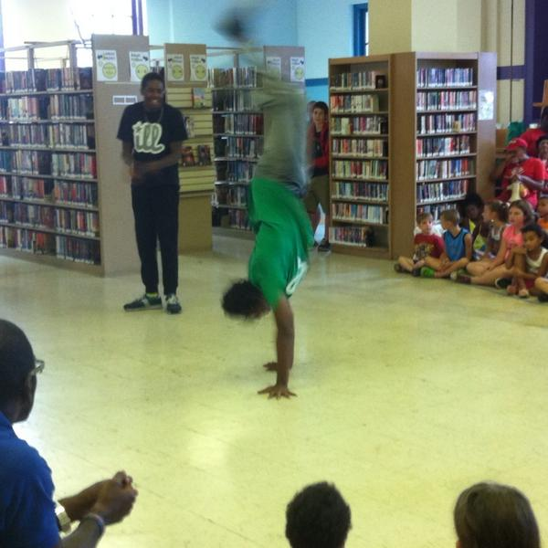 Just a little bit of breakin' going on at the #Pottstown Library. http://t.co/OqrAYJIDi0