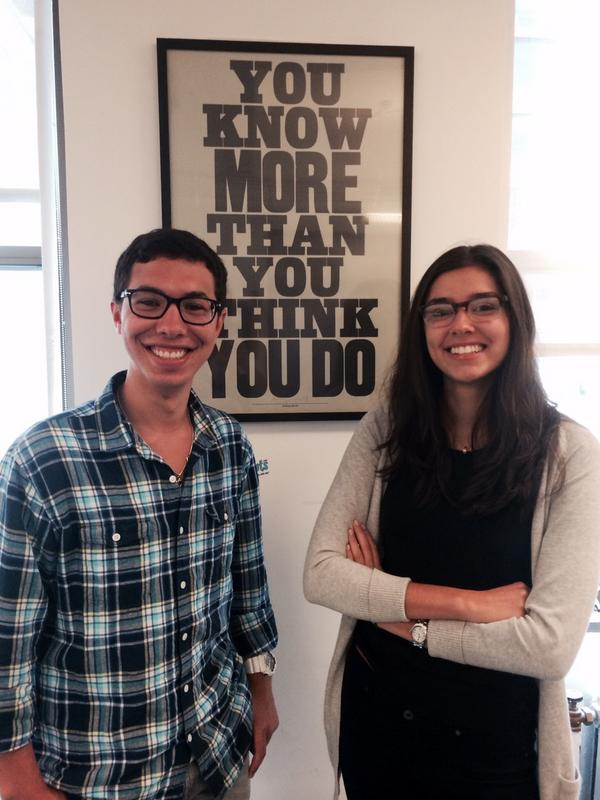 We have two summer interns in the office! They have a lot of responsibility here. #youknowmorethanyouthinkyoudo http://t.co/T1OtgA0OkY