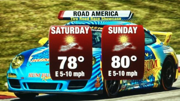 Already looking ahead to the weekend?  It looks fantastic! Dry, sunny & warm for a great @roadamerica weekend! #wiwx http://t.co/7LqQZuce2n
