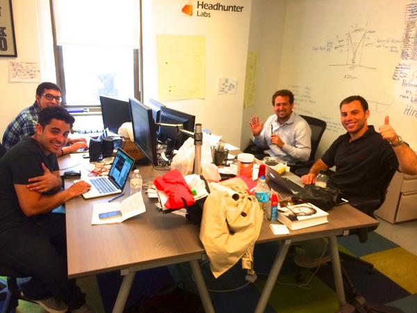 One of the companies @TalentTechLabs is @InterviewJet.  Here is a pic of their incredible team! #hrtech http://t.co/irUYoOENhN