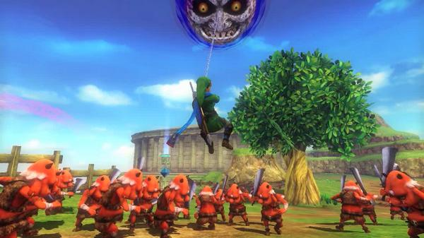 Nintendo Of Europe On Twitter Majora S Mask Is Represented In Hyrulewarriors Use The Hookshot And Pull It Down Zelda Wiiu Http T Co Ehf2qt34xs