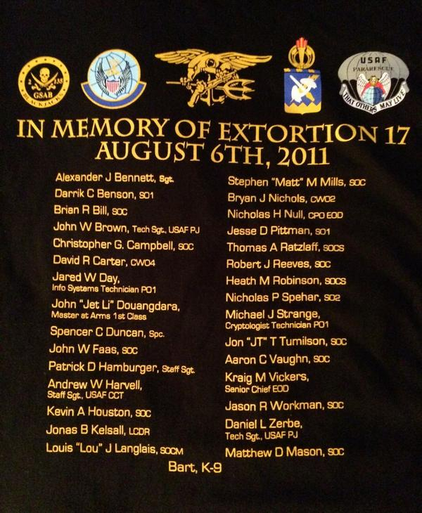 Dear America,  Please honor our nation's extraordinary loss, 8-6-2011  http://t.co/l6x115iF1t   #Extortion17 http://t.co/zken0qBbfL
