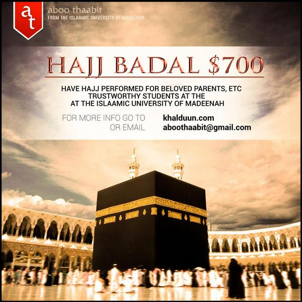"Retweet: Have hajj performed for a loved one; your parent or grandparent, or ""donate"" a Hajj. http://t.co/04q2ikqCnp http://t.co/KfveWClbip"
