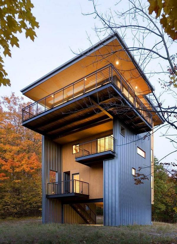 House as Lookout. Glen Lake Tower | Balance Associates http://t.co/boycJp7AnT http://t.co/cpcgksgOof ☼