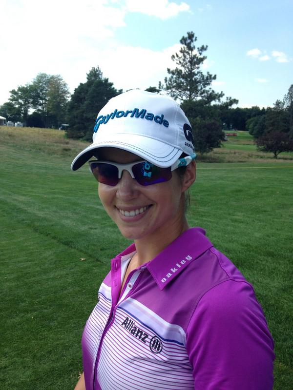 oakley prizm golf sunglasses  beatriz recari on twitter: \testing the new @oakley #prizm golf lens today #awesome #wow @oakleysports http://t.co/cduk6e3bsz