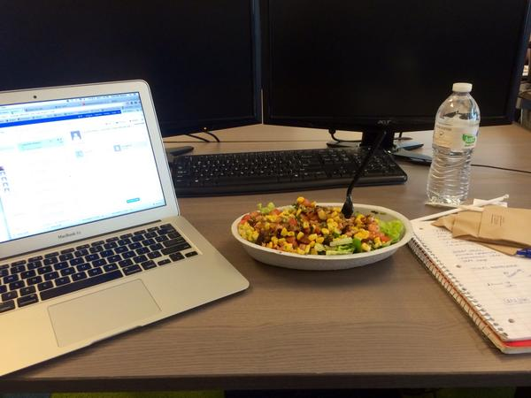 Typical lunch @TalentTechLabs is @ChipotleTweets.  We just can't resist! http://t.co/iCC7qKAln4