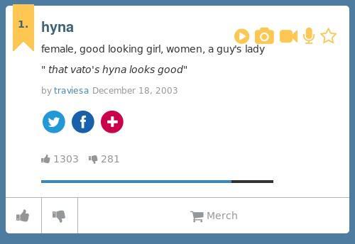 Hyna definition