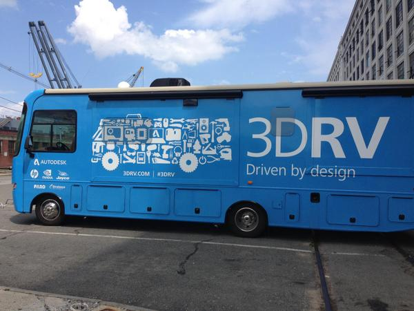 Spotted outside the @IDBldg! The @AutoDesk #3DRV is here for #RealityComputing! http://t.co/au5h8WhB65 http://t.co/FbyAc6Xk85