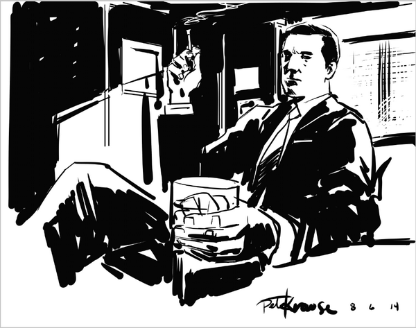 Thirty minute sketch. Don Draper. #MadMen http://t.co/aSYOHmzMQt