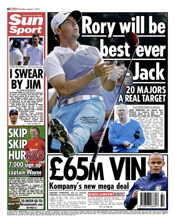 Manchester City set to offer Vincent Kompany new £65m deal [Sun]