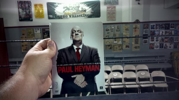 Tonight we watch the @HeymanHustle at the place he started his early days in wrestling. At the @4MonsterFactory!! http://t.co/qGPiYyWoUS