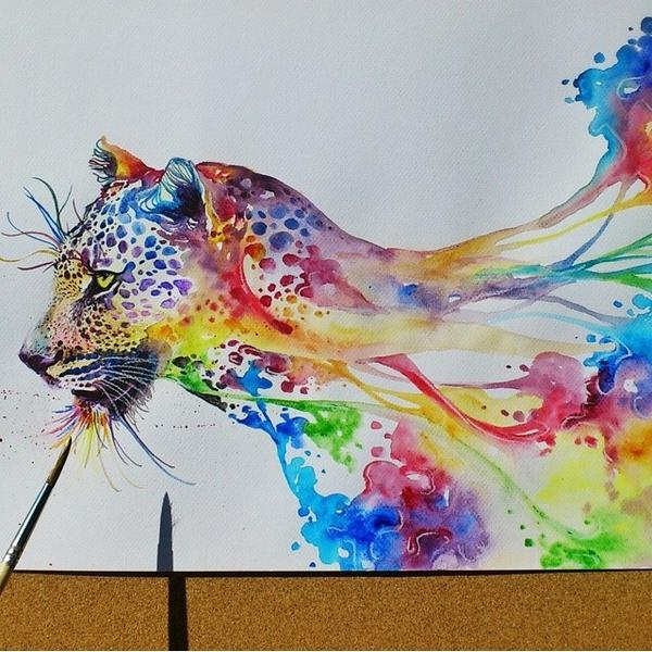 Amazing Drawings On Twitter Sick Water Colour Drawing Http T Colour Drawing