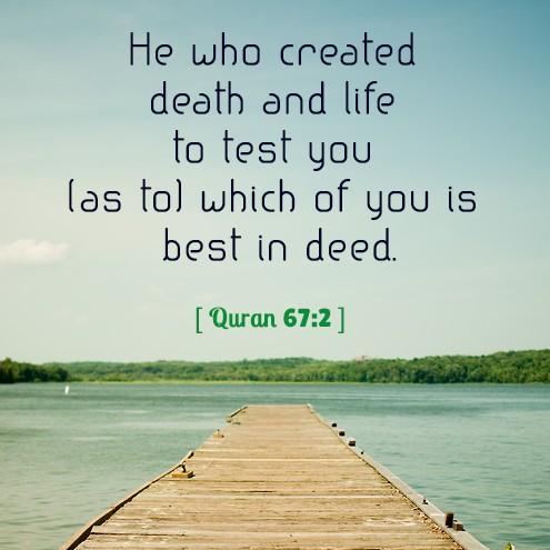 islam Quotes 4 u On Twitter He Who Created Death And Life To