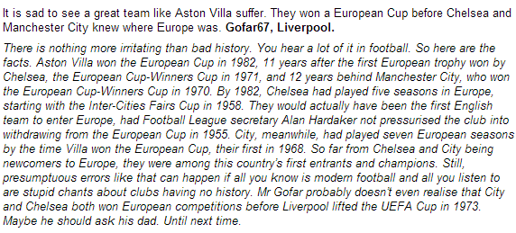 Slap on the scouse faces by Martin Samuel yet again. #nohistory #cfc http://t.co/GPYEvpxc3t
