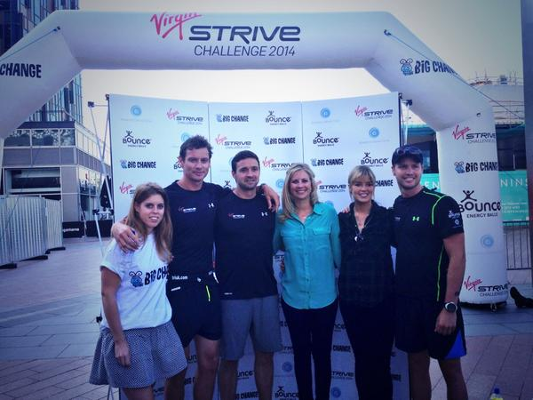 Big Change founders excited to kick off the @Virgin @strivechallenge at @TheO2 http://t.co/vxZEgJezpw