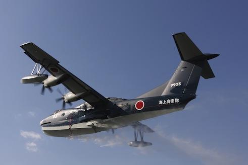 新明和工業の深井浩司執行役員航空機事業部長が本紙のインタビューに応じ、US-2の消防飛行艇型の有効性を確立するため実物大放水タンクを試作し、地上で放水試験を行う計画も明らかにした。 http://t.co/i2GZoriZas