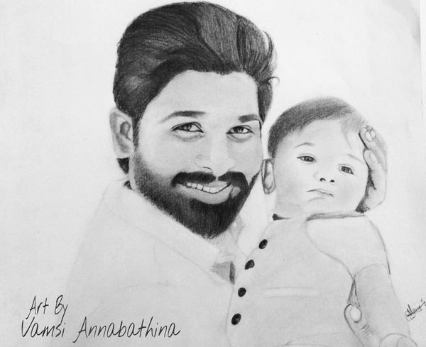 Vamsi annabathina on twitter ssaafanclub pencil sketch by me can u please help me how to post this in allu arjuns fb page http t co bfldpd8hfu