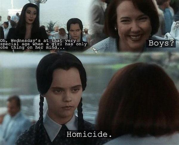 Wednesday Addams. ❤️ http://t.co/0iE6G125td