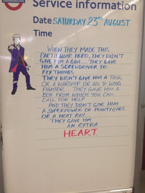 Someone at Tufnell Park tube really likes Doctor Who http://t.co/vEfT7tqPm1 http://t.co/uzoGNeg2fD