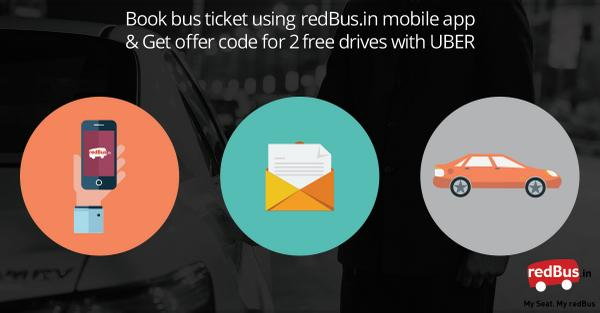 Book on redBus mobile app for/from - Mumbai, Bengaluru, Delhi, Chennai, Hyderabad & Pune & get 2 free rides on UBER. http://t.co/hfUggPt3EO