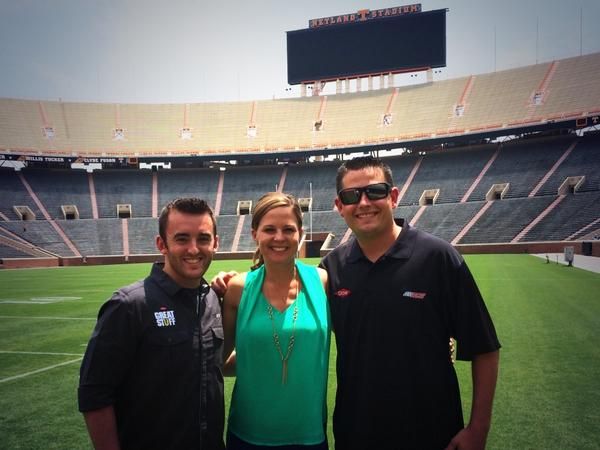 Great day with @austindillon3 and @R_Sparks_3 looking forward to Bristol and the season Opener here at @Vol_Football http://t.co/o2AOeLeREv