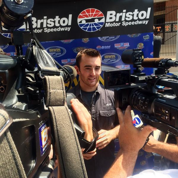 "QUOTE: ""It was amazing to walk out on Neyland Stadium. Reminds me a lot of Bristol."" - @austindillon3 http://t.co/VcJyRAox7a"