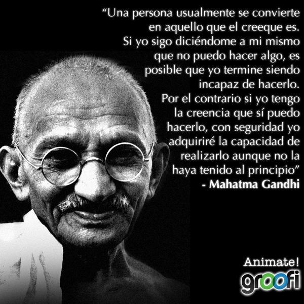 Frases De Gandhi Sur Twitter Una Persona Usualmente Se