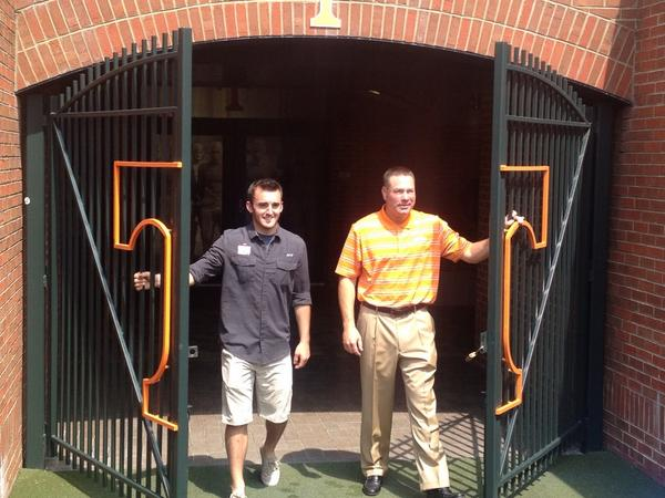 Entering hallowed ground @Austindillon3 and @UTCoachJones http://t.co/8jNENHcrta