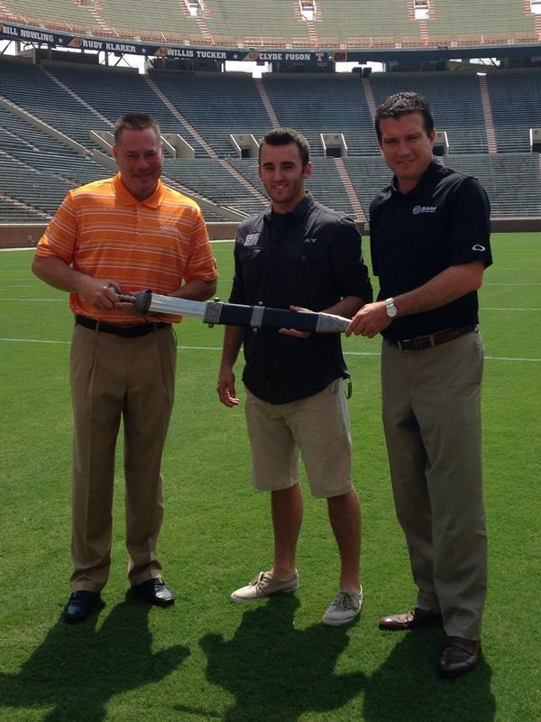 The Power of the Sword with @austindillon3 and @UTCoachJones http://t.co/bBcyInm7nb