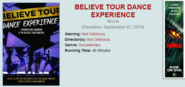 Win the BELIEVE TOUR EXPERIENCE blu-ray! http://t.co/iaMnmBdmyL @NickDeMoura http://t.co/ONN15ecp4m