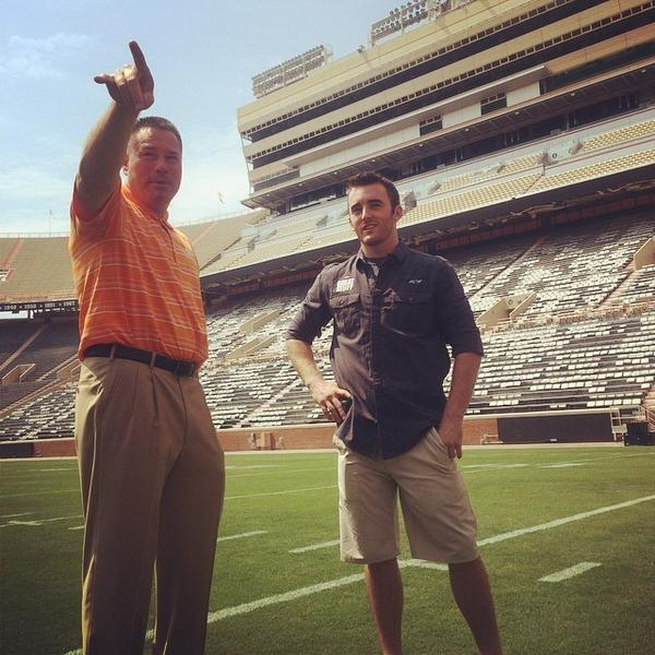 @austindillon3 listens to Coach Jones detail the size of Neyland Stadium. Reminds Dillon... http://t.co/Xk9nWCxi9k http://t.co/7tjUU9lsRg