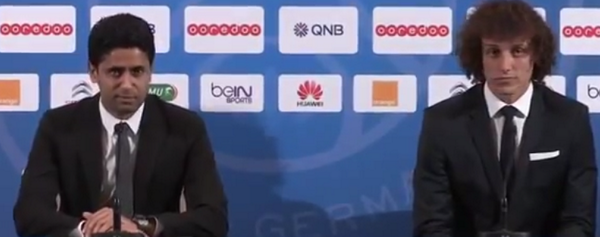 Good One! PSG President Nasser introduces David Luiz as The best defender in the world [Video]