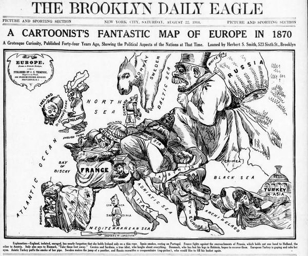 Humoristische Karte Von Europa 1914.State Library Of Nsw On Twitter Humoristische Karte Von