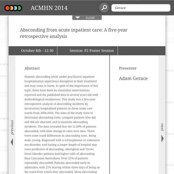 Thumbnail for Tweeting Mental Health Nurses presenting at #ACMHN2014