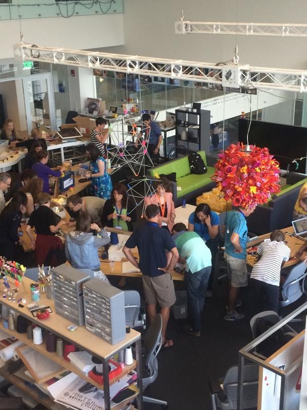Supplies for #ScratchMIT2014 LEGO WeDo chain-reaction session: Cardboard, LEGOs, bouncy balls ... and a bike? http://t.co/npn6dRUpzv