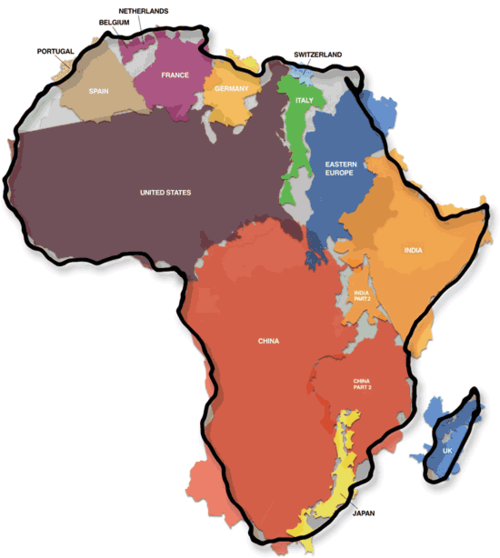 What fits in Africa -