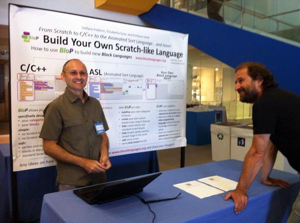 Crowded poster session at #ScratchMIT2014 @federicistefano @eilardi @ScComUnica http://t.co/x73JWQmD14